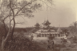 A Kyoung under Mandalay Hill, to the north-east of the city